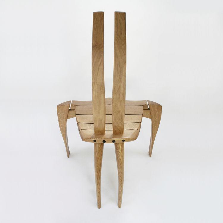 Chaise Design Original En Bois