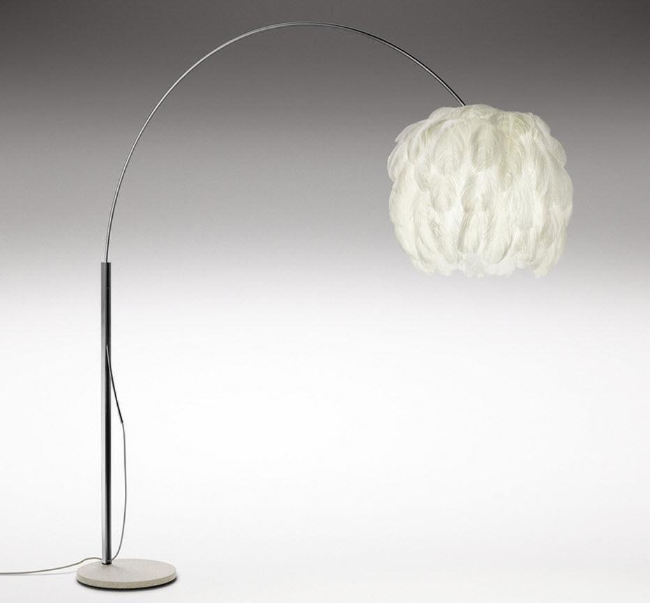 Lampe Sur Pied Design Original En Acier Inoxydable Reglable