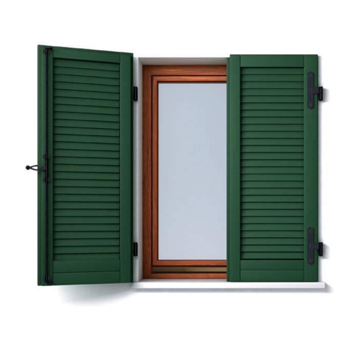Volet Battant En Bois Pour Fenêtre à Jalousie Panto Spa