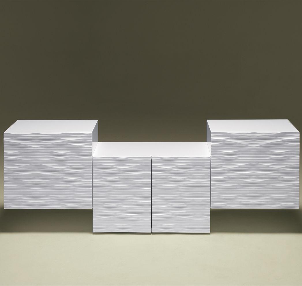 Buffet design original   en bois laqué   blanc - LOOP WEG - Luisa ... ee2270073109