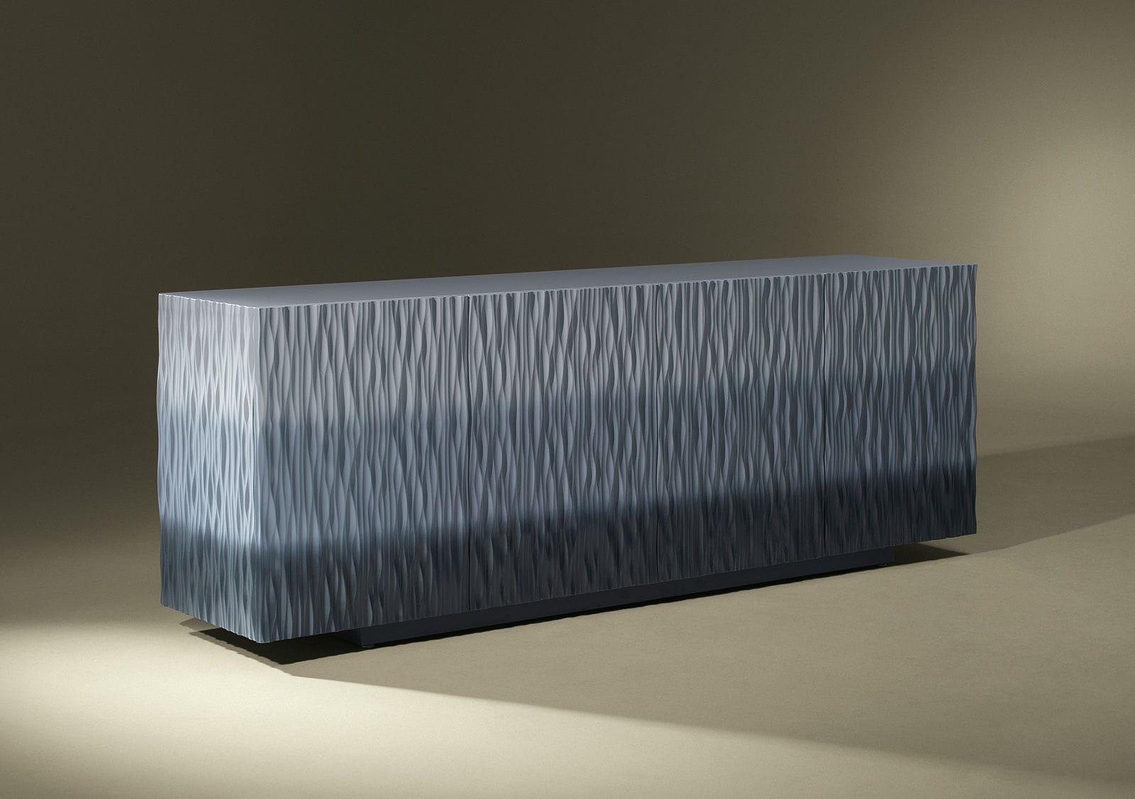 Buffet contemporain   en bois laqué   bleu   vert - MOON - Luisa ... e9a81be56d97