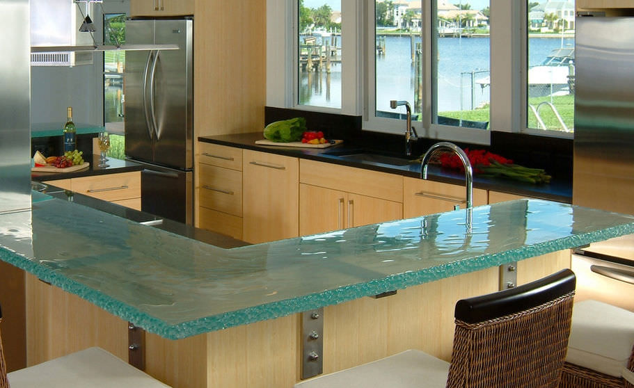 Plan De Travail En Verre De Cuisine Vero Beach Thinkglass