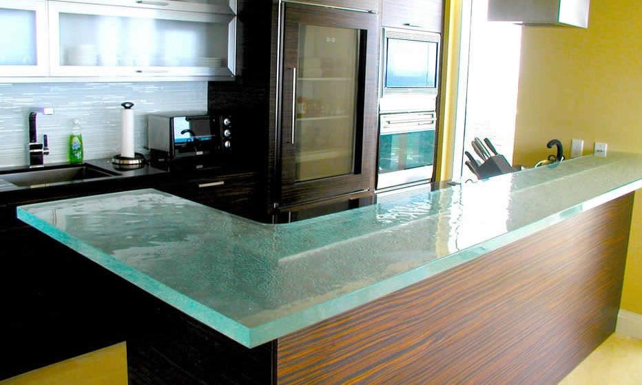 Bar De Cuisine En Verre plan de travail en verre / de cuisine - sensible chic - thinkglass