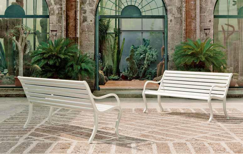 Banc De Jardin Classique En Fonte Dualuminium Avec Dossier Oasi With Banc  Jardin Aluminium