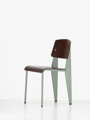 chaise contemporaine / en plastique / en acier / par jean prouvé ... - Chaise Jean Prouve Prix