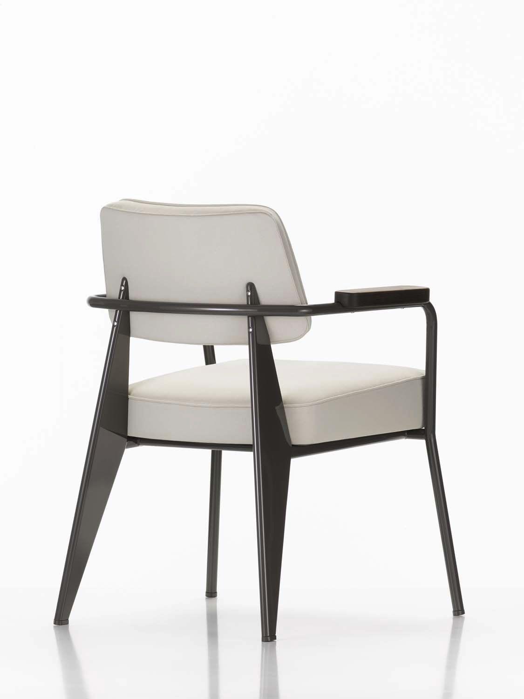 fauteuil visiteur contemporain / en bois / en tissu / en cuir ... - Chaise Jean Prouve Prix