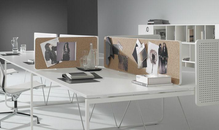 Séparateur de bureau sur plan en bois modulable k by