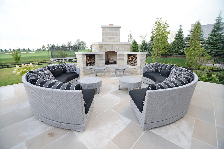 Canapé en arc de cercle / modulable / contemporain / de jardin ...