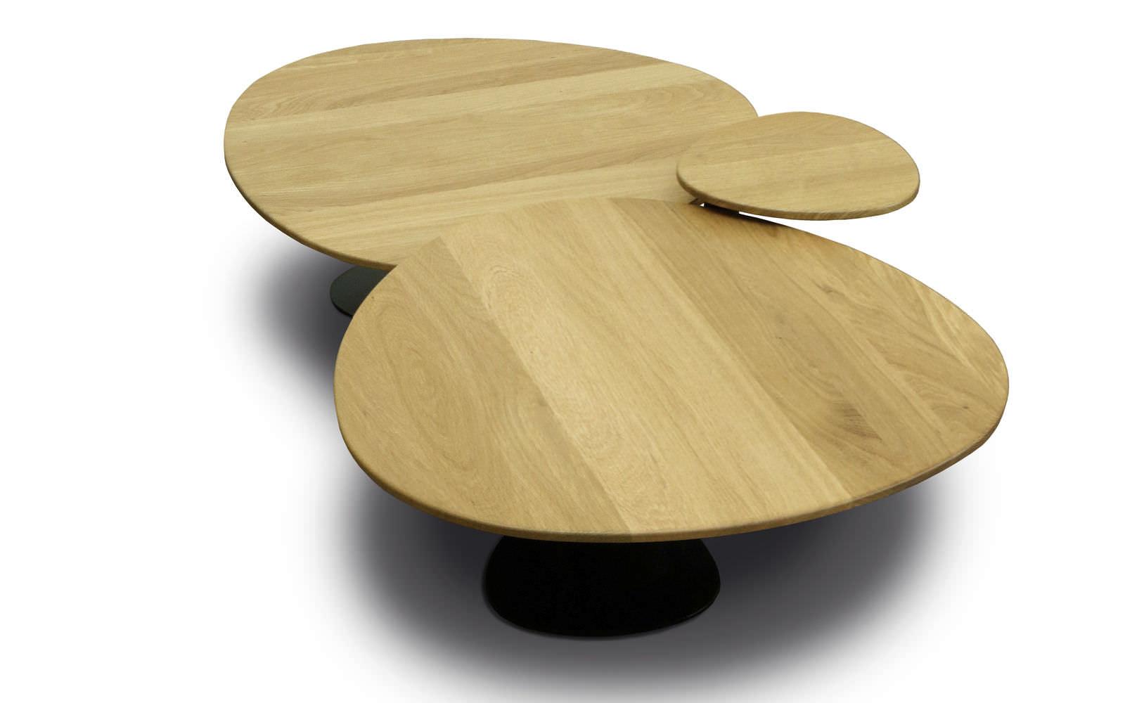 Table basse contemporaine / en acier / en chêne / en stratifié ...