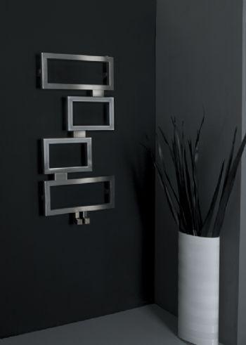radiateur eau chaude en inox contemporain de salle de bain clash carisa - Radiateur Eau Chaude Salle De Bain