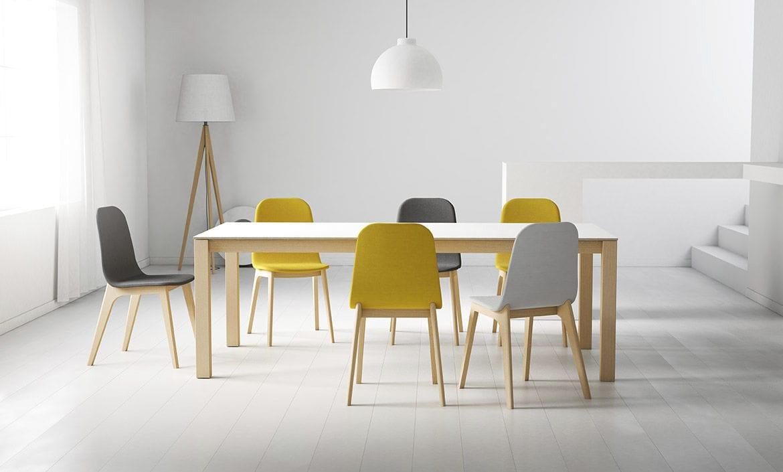 Chaise Design Scandinave Tapissee Ergonomique En Tissu