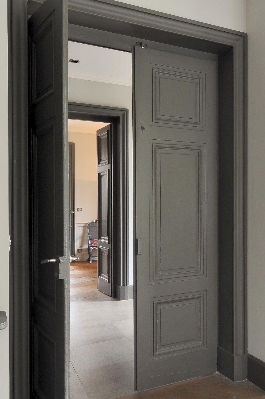 Porte d'entrée / battante / en bois - PORTE CLASSIQUE - COSI