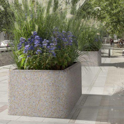 jardinière en béton / hexagonale / ronde / rectangulaire - marlux