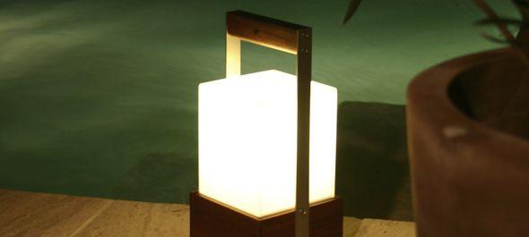 Lampe baladeuse / contemporaine / en métal / en bois - MOONSOON ...