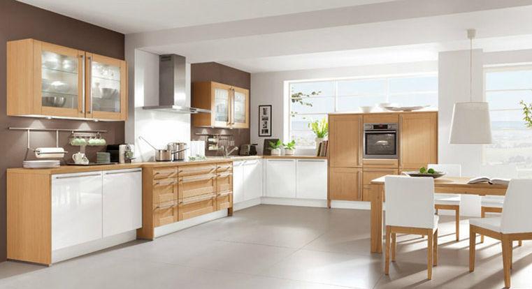 cuisine contemporaine / en plaqué bois - elegance 903 - nobilia