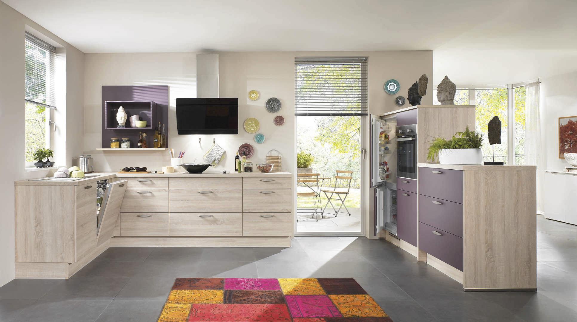cuisine contemporaine / en bois massif / en plaqué bois / en bois