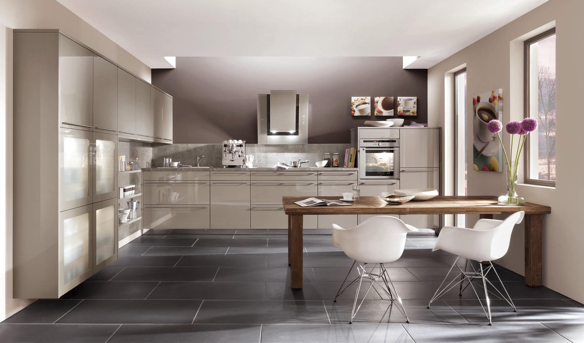 cuisine contemporaine / en bois / laquée / brillante - nova 854
