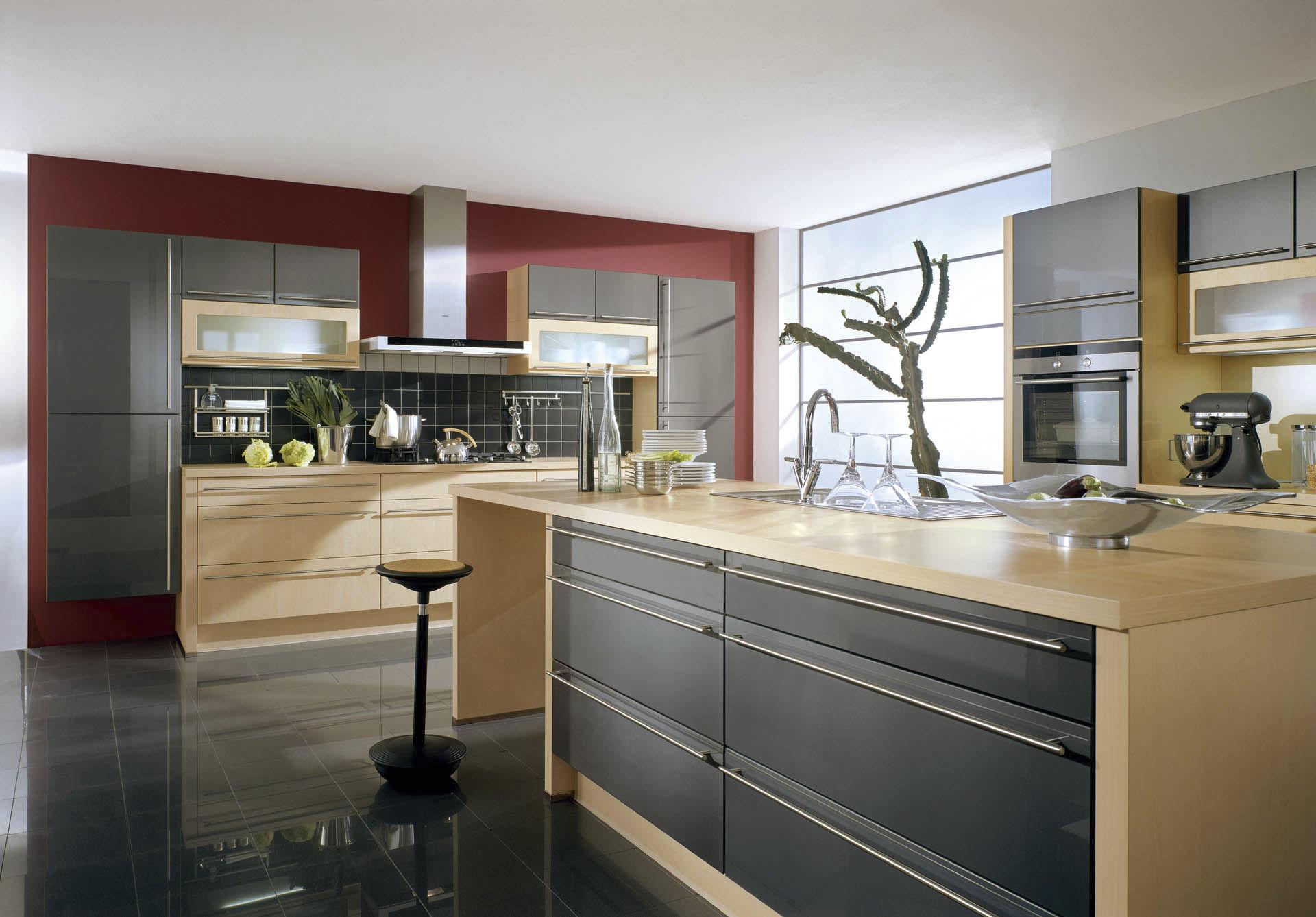 cuisine contemporaine / en bois / laquée - xeno 670 - nobilia