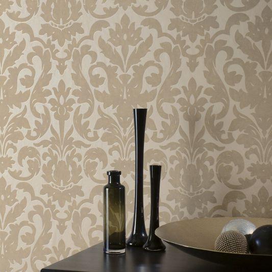 Papiers peints de style / en tissu / damas / métallisés - DALARNI ...