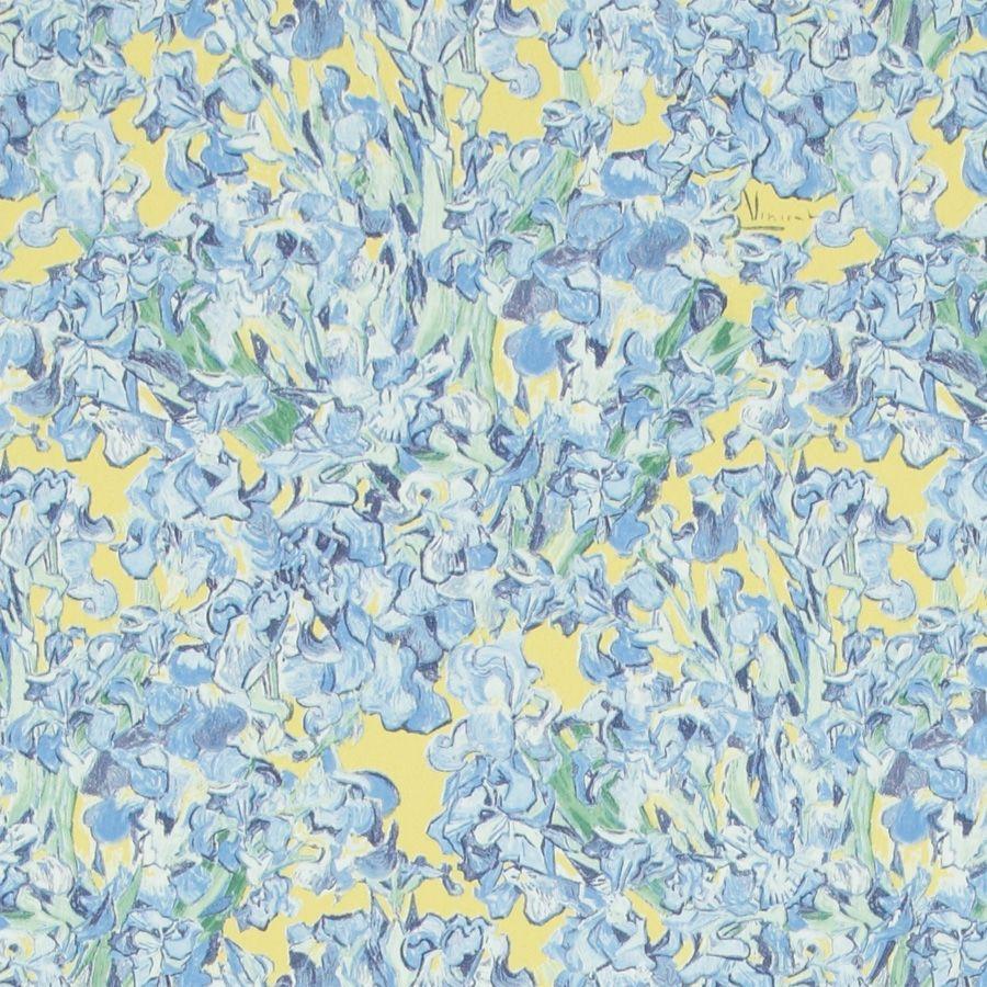 Papier Peint Contemporain En Tissu A Motif Floral Imprime