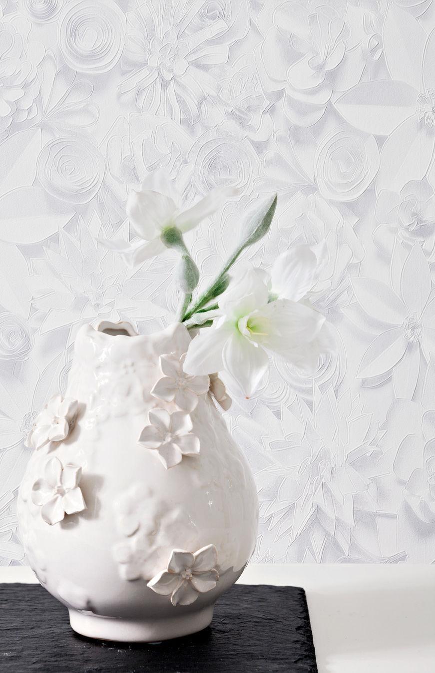 Papiers peints contemporains / en tissu / motifs floraux / à ...