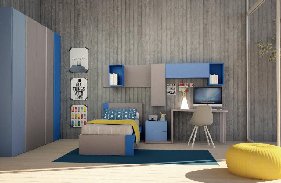 Chambre d\'enfant pour garçon / grise - COOL 06 - Mob. Granzotto