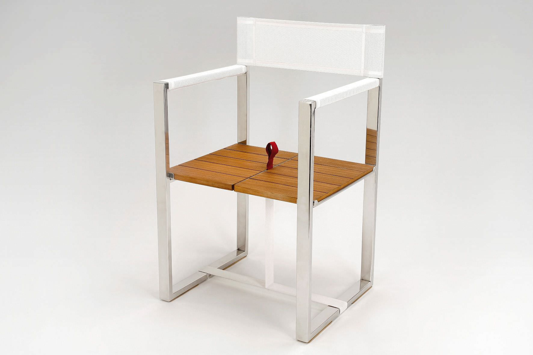 Chaise Contemporaine Pliante Avec Accoudoirs Luge