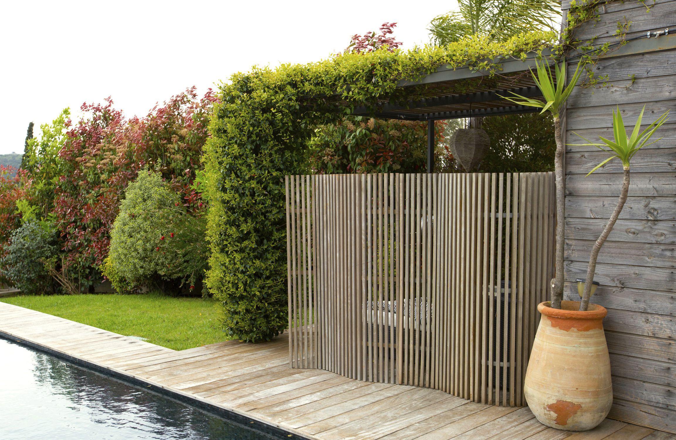 Claustra en bois de terrasse de jardin sur mesure KIT KURLY