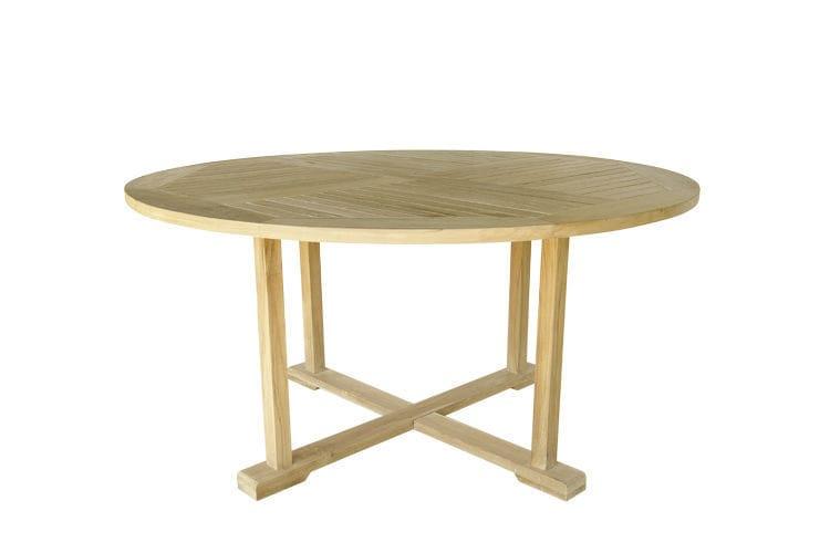 Table à manger classique / en teck / rectangulaire / de jardin ...