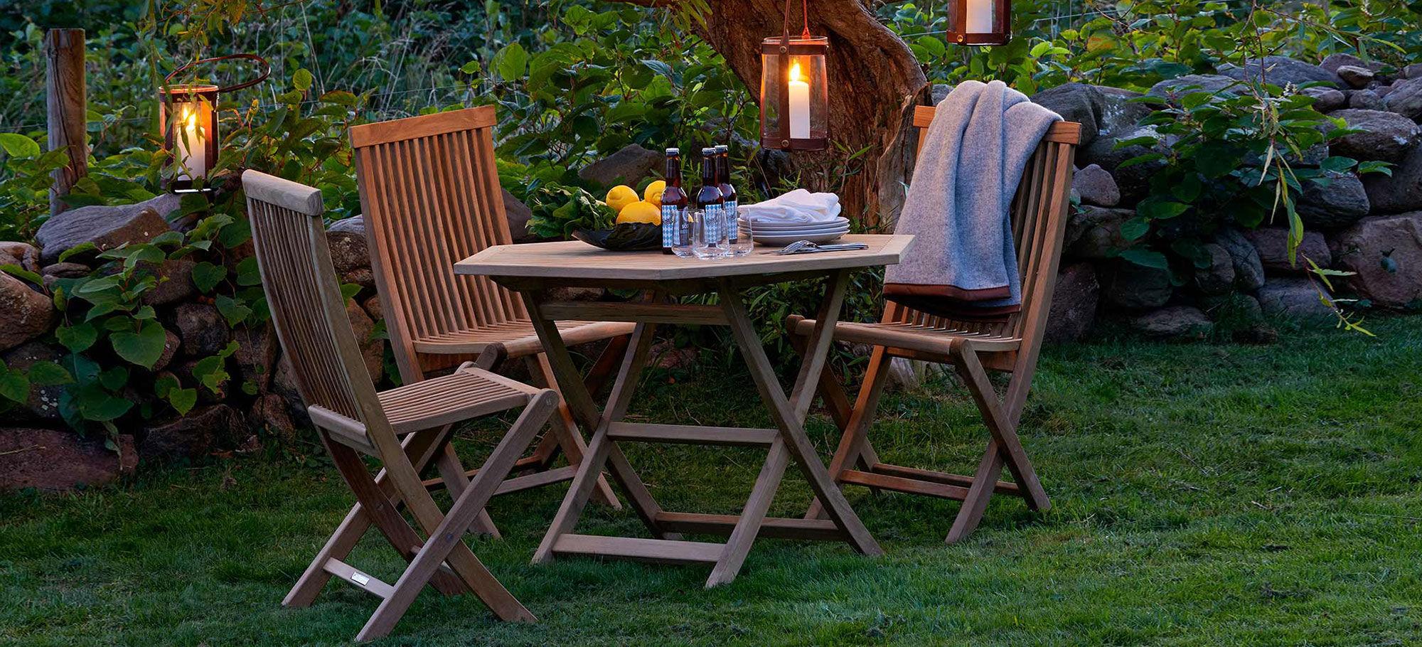 Table Contemporaine En Teck Hexagonale De Jardin Viken By  # Table De Jardin Hexagonale