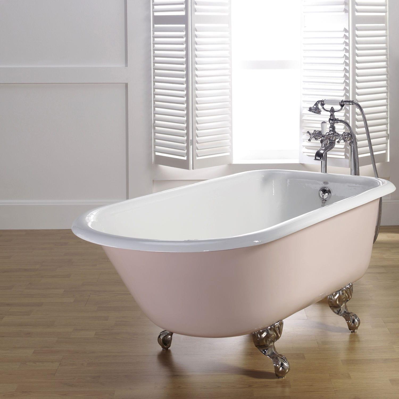 baignoire sur pieds / ovale / en fonte - roll top - recor