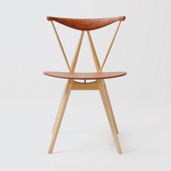Extrem Chaise design scandinave / tapissée / en bois / en cuir - PIANO by  FG36
