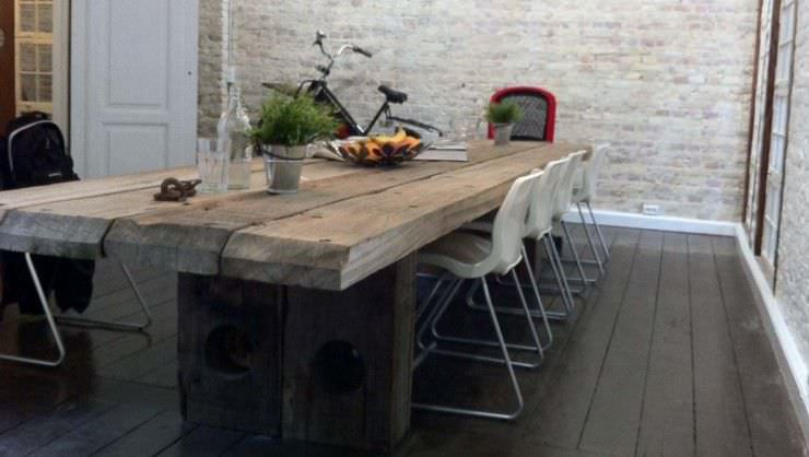 Table Bois Design Contemporain