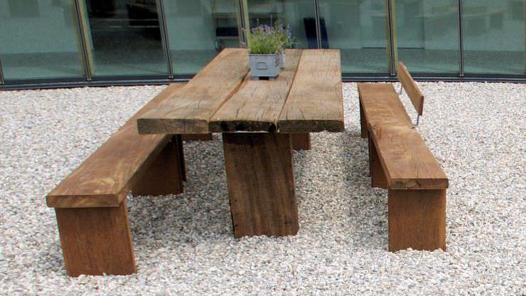 Ensemble table et chaises contemporain / en acier / en bois / de ...