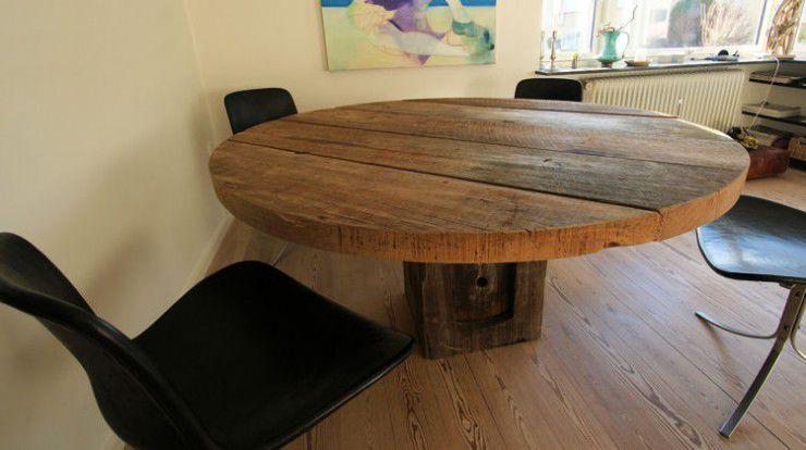 table ronde contemporaine design