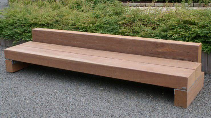 banc de jardin / contemporain / en bois / en acier - slinger