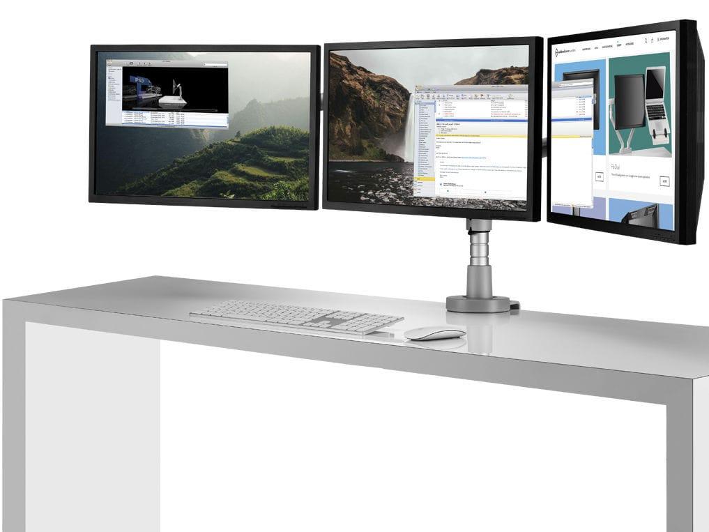 White triple monitor gaming setup u gaming desks compuu