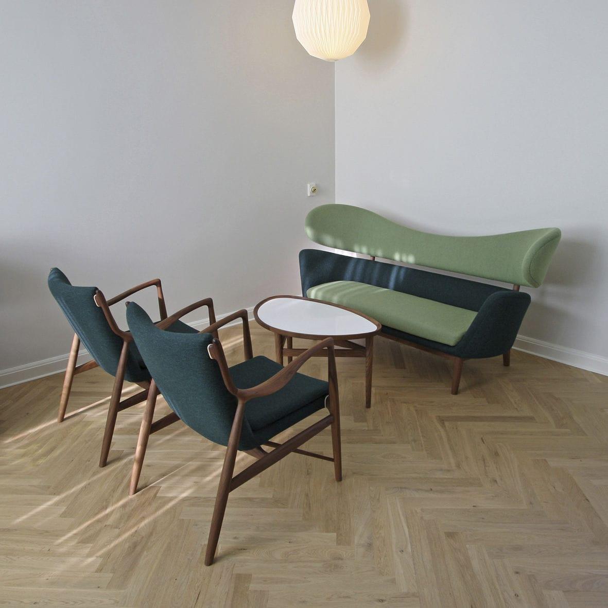 Canapé design scandinave / en laine / en noyer / en teck   baker ...