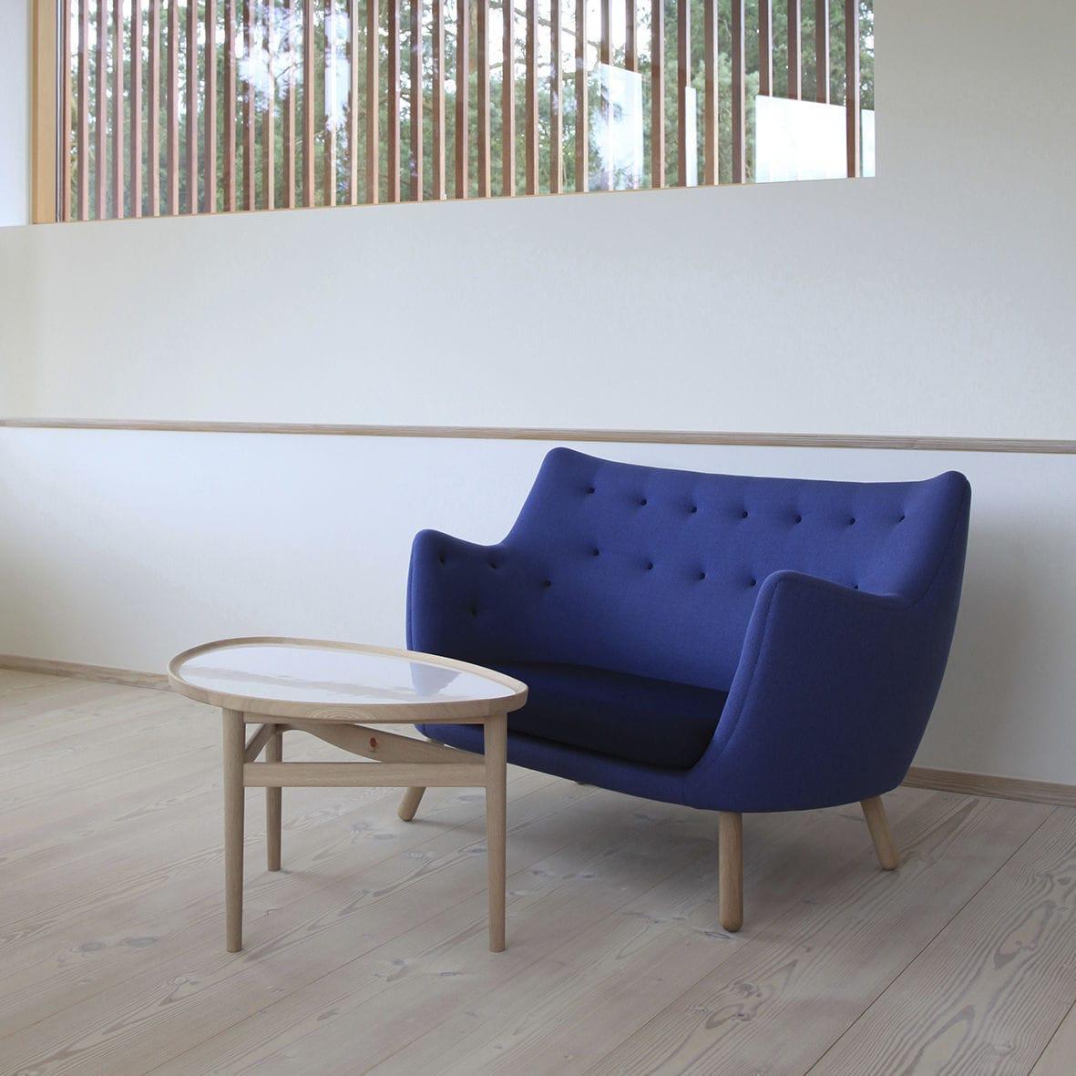 Connu Canapé design scandinave / bois / en tissu / par Finn Juhl - POET  ZR56
