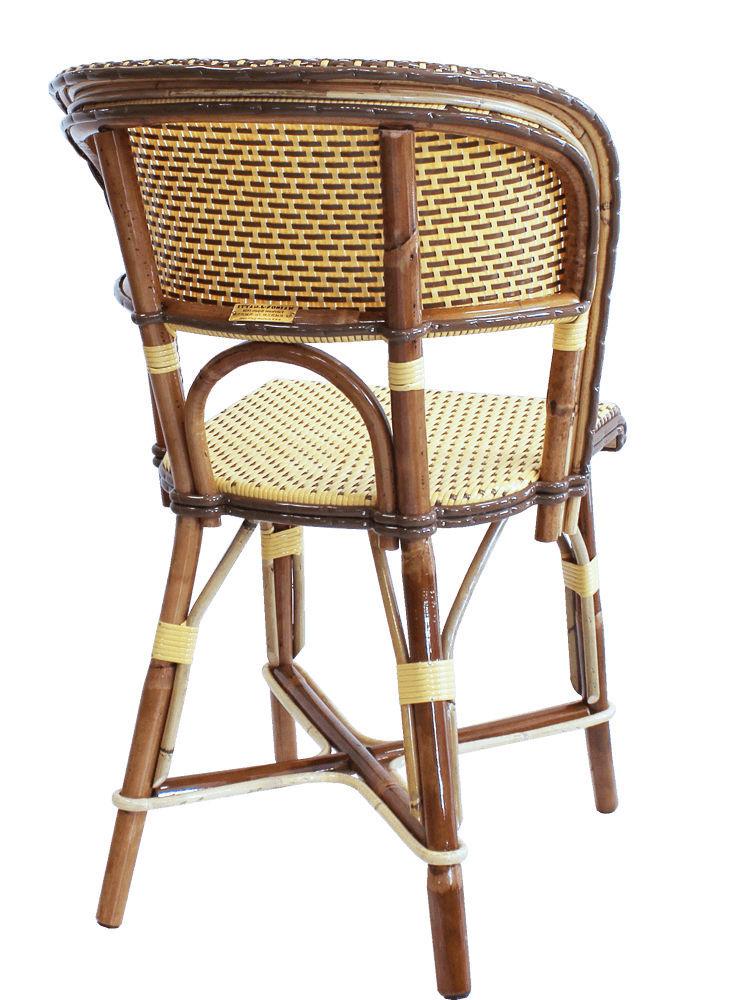 Chaise de restaurant classique / en rotin / en bois courbé / dorée ...