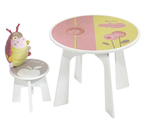 Ensemble Table Et Chaises Contemporain En Plastique Pour Enfant