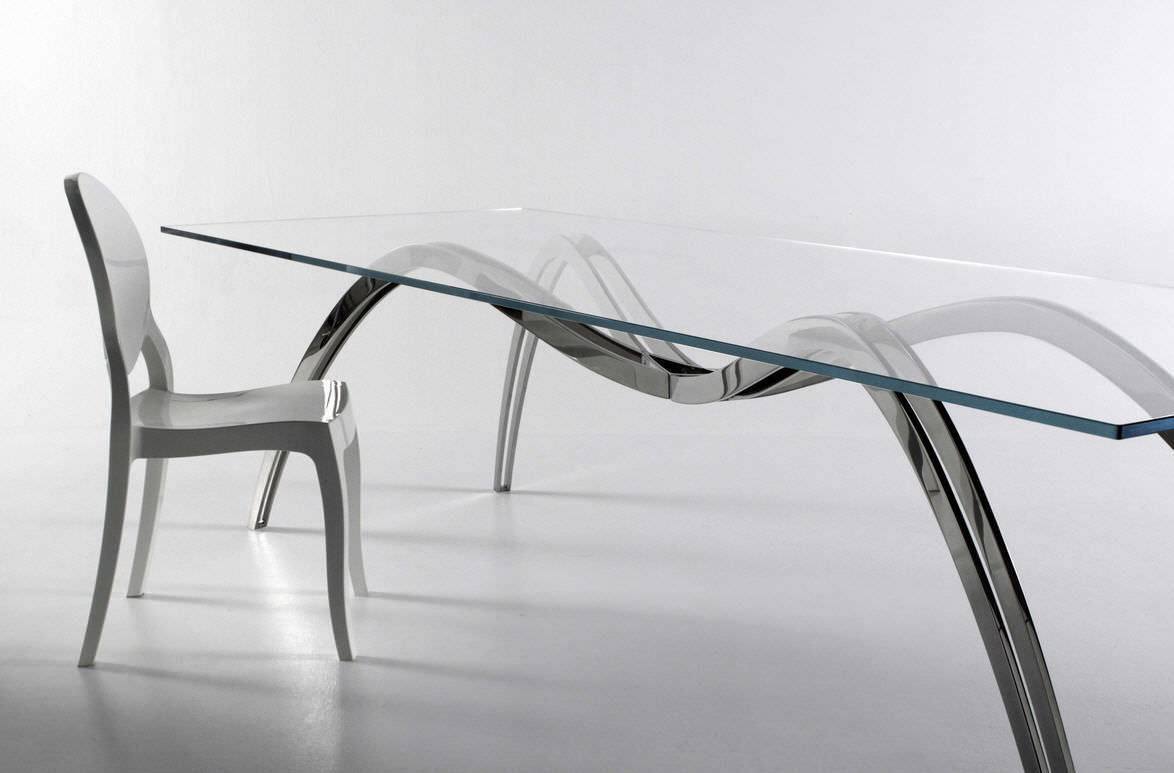 table verre spider