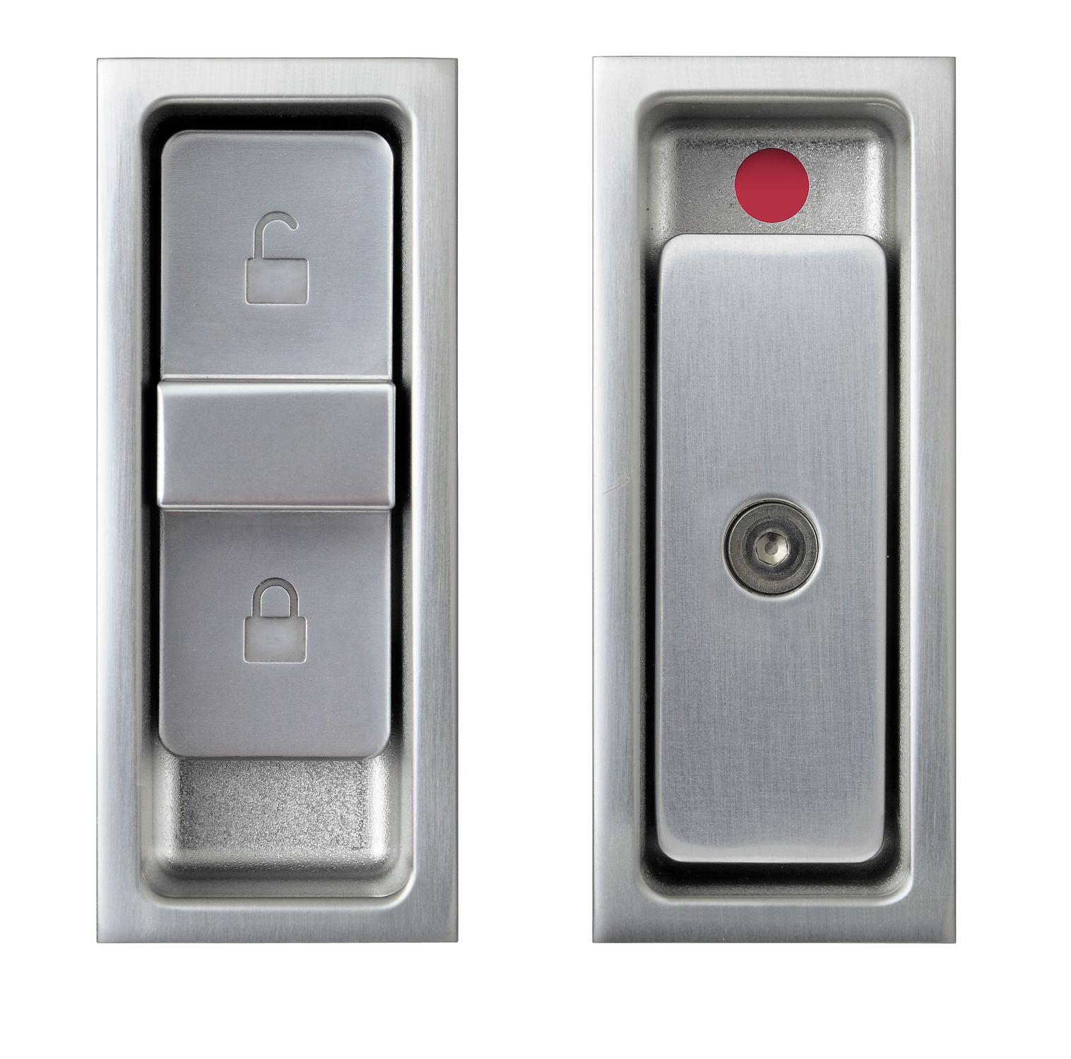 Poignée Pour Porte Coulissante En Aluminium Contemporaine Avec - Serrure porte coulissante