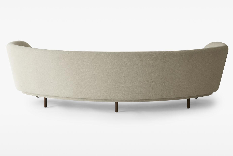 Canapé en arc de cercle contemporain en tissu places