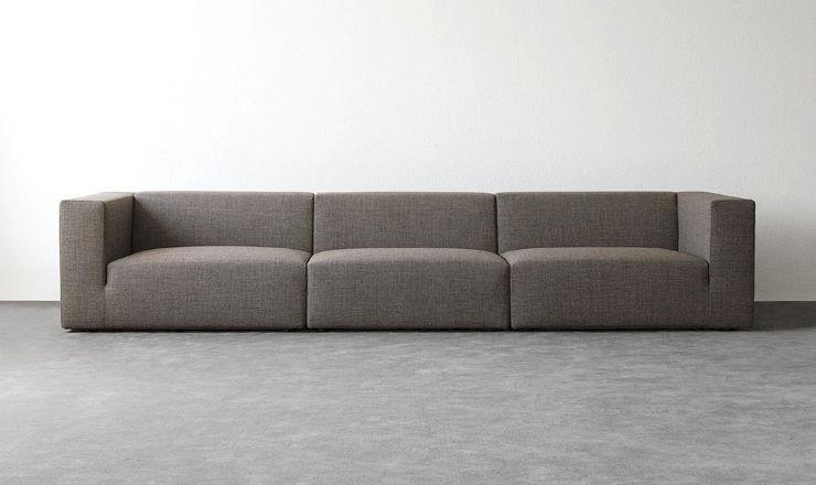 Canapé modulable / contemporain / en cuir / en tissu - FLUIDUM : BIG ...