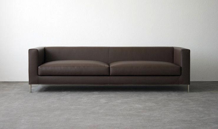 Canapé contemporain / en cuir / en acier / en tissu - FLUIDUM ...