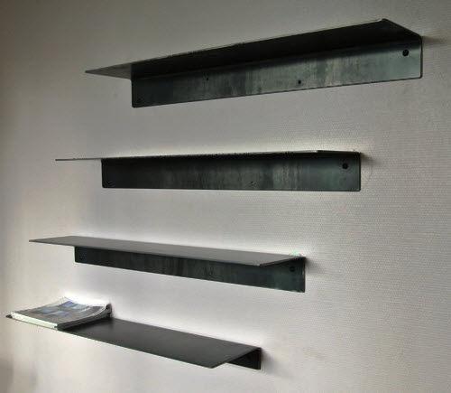 Étagère murale / contemporaine / en acier / sur mesure - MINIMAL ...