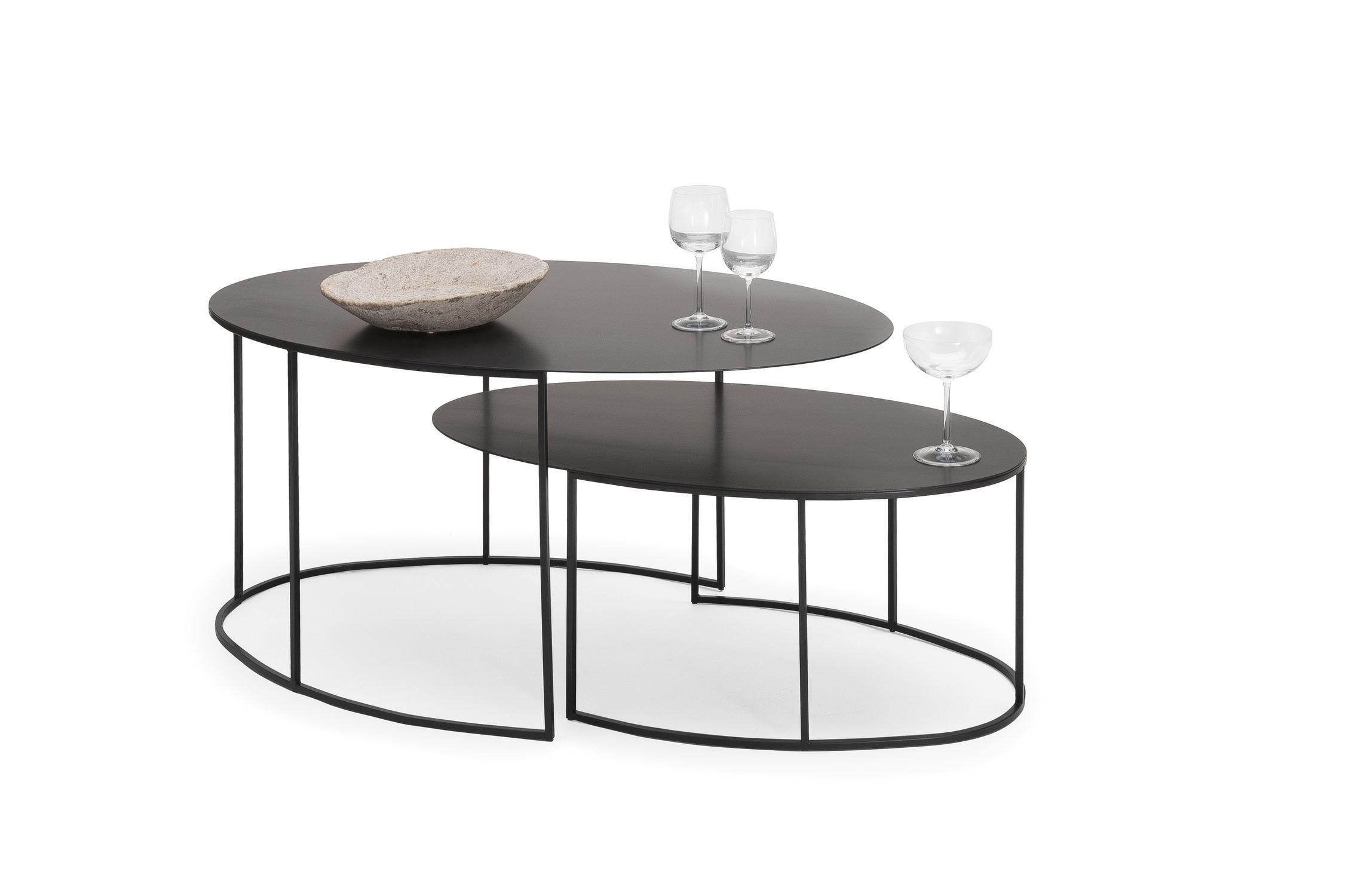 Table Gigogne Contemporaine En Cuivre Ovale Slim Irony By  # Table De Jardin Gigogne
