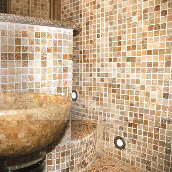 mosaïque d'intérieur / de salle de bain / de sol / en pierre ... - Pierre Naturelle Salle De Bain