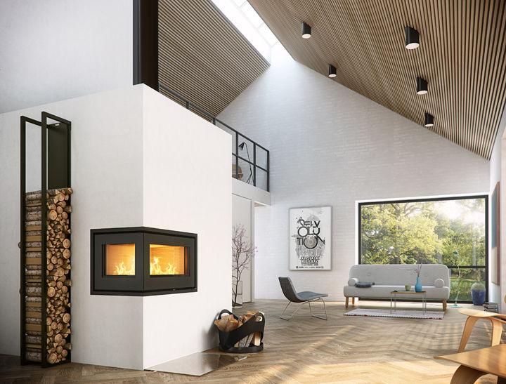 Top Insert de cheminée à bois / d'angle - 500² - RAIS IH07